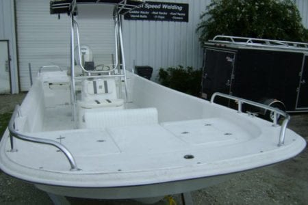 Bow Rails and Stern Rails for Carolina Skiff