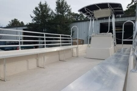 Aluminum bench seats for boats