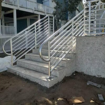 anodized rails for stairs