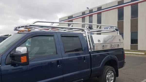 Ford Super Duty Ladder Rack with Toolboxes