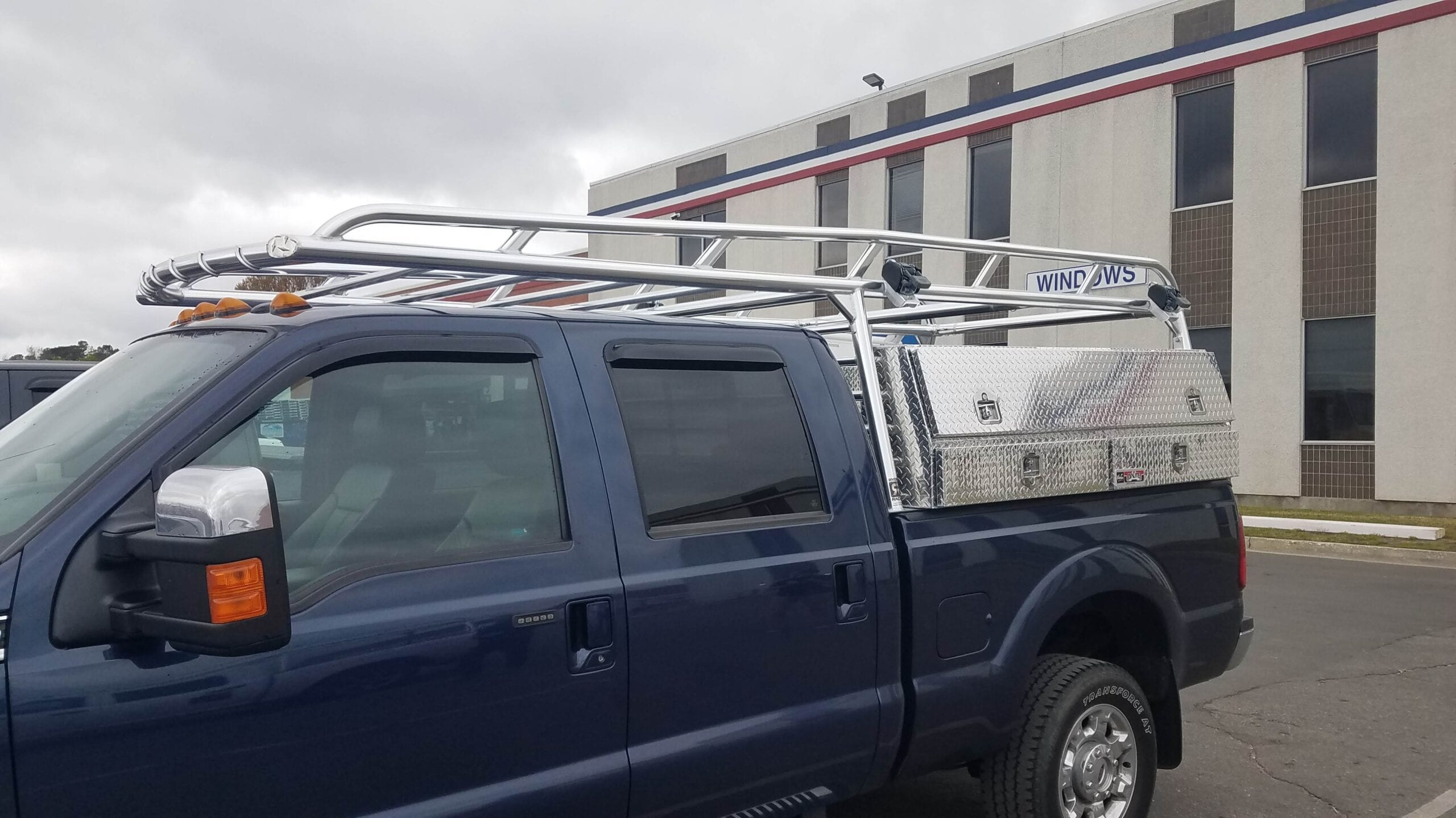 Ladder Rack with Toolboxes