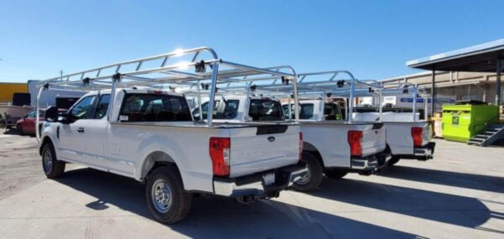 Custom truck racks for a fleet
