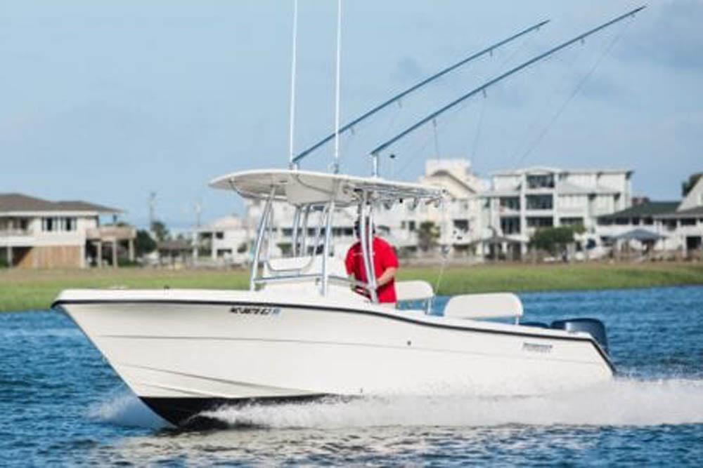 Boat T Top with Fiberglass Hardtop