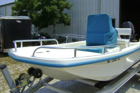 Split Bow Rails For A Boat