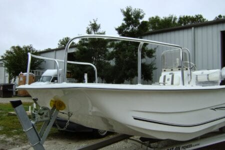 Aluminum Bow Rail for Carolina Skiff